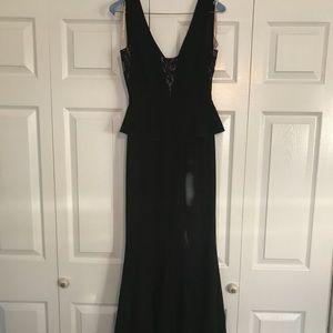 BCBG Peplum Evening Gown - WORN ONCE - Size 0